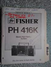 Fisher ph 416 k service manual original repair book stereo boombox radio