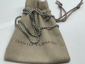 "David Yurman 20"" Inches Silver 925 3mm Box Chain Necklace AUCTION"