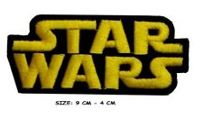 Star Wars Patch Embroidered Badge Iron On Sew On Clothes  GOLD