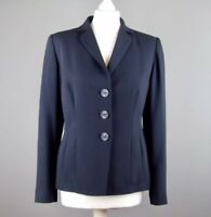 Country Casuals CC Navy Classic Blazer Jacket Pure Wool Size UK 10 Fitted Lined