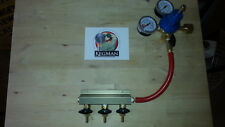 Three Beer Gas Manifold and Dual Gauge CO2 Regulator