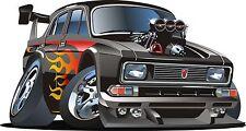 Hot Rod Car Cartoon Sticker Decal Graphic Vinyl Label V2