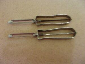 LOT 2 Vintage peelers vegetable potato  peeler  Nee Action Ekco  Metal  SET 4
