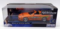 Jada Fast & Furious 1/24 Scale 30738 - Brian Figure & Toyota Supra - Orange