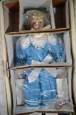 "NIB 22"" Bisque Porcelain Blonde Girl Doll ELAINE Sonja Hartmann Limited Edition"