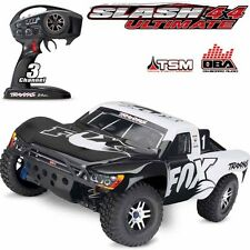 Traxxas 68077-24 Slash 4x4 Ultimate 1/10 Brushless Short Course LCG Truck FOX