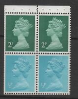 DECIMAL MACHIN BOOKLET PANE USB1 WITH Ps PERFORATIONS. UNMOUNTED MINT.