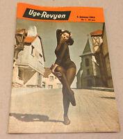 LESLIE CARON FRONT COVER + JIMMY DURANTE BACK COVER ON VTG Danish Magazine 1953