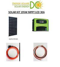 Solar Panel KIT Panneau Solaire 195W PV Watt Mono 12 Volt 30A MPPT LCD charger