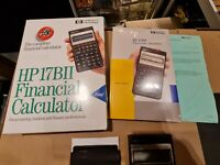 HP 17II business calculator financial. Working boxed vgc