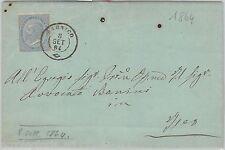 57070 - ITALIA REGNO - STORIA POSTALE : BUSTA da SARNICO  1864