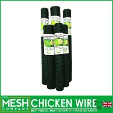 More details for green pvc chicken wire netting mesh net rabbit aviary fence 5m, 10m & 25m rolls