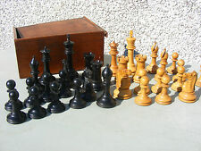 "ANTIQUE  STAUNTON  WOODEN CHESS SET 4"" INCH  UNWEIGHTED"