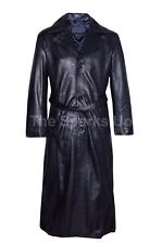Men's Blade Trinity elegante Wesley avocetas Clásico Abrigo De Cuero Negro Casual Wear