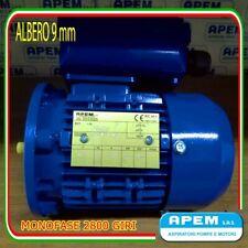 Motore elettrico monofase CV.0,12 90WATT 2800 G/Min mec56 B5 albero 9mm 220 volt