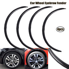 "4x 28.7"" Car Wheel Eyebrow Arch Trim Lips Fender Flares Protector Carbon Fiber"