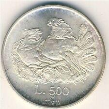 SAN MARINO - 1974 -   500 lire - KM 37 - UNC from divisionale Silver Argento