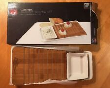 Marimba Gourmet Serving Set Bread Cutting Board & Spread New England Patriots