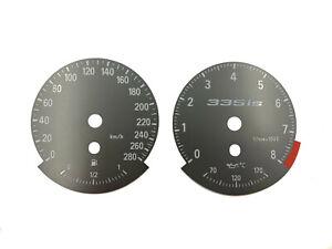 BMW E9x E90 E92 E93 Speedometer dial MPH to KMH Instrument cluster 335IS