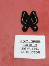 ROYAL GREEN JACKETS SIGNALLING INSTRUCTOR BADGE