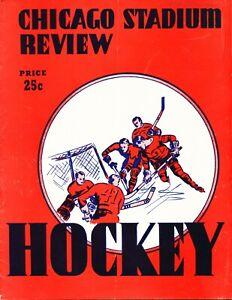 EX PLUS 2/26/1956 Bruins @ Black Hawks NHL Program - 7 HOF'ers in Lineup