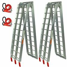 """Pair Of Lawn Mower Atv Folding Loading Ramps Made Of Aluminum 89"""" 1500lbs Rated"""
