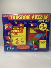 STEM Tangram Puzzles Book & Kit Magnetic Pieces