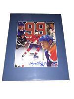 Wayne Gretzky Signed Edmonton Oilers 8x10 Photo - NHL Autographed Rare - Matted
