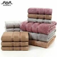 100% Bamboo Fiber Towels Purple Gray Brown Bath Face Towel Set Cool Bamboo Absor
