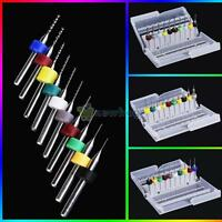 10Pcs High Speed Steel Circuit Board Carbide Micro Drill Bits Tool 0.3 to 2.0mm