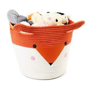 Cotton Rope Storage Basket for Nursery Toy Woven Basket Organizer Laundry Hamper