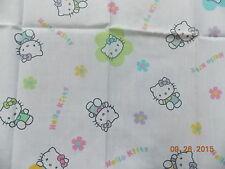 "Hello Kitty White Fabric Fat Quarter, 19"" x 19"""