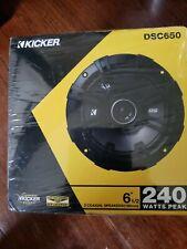 """New listing New Kicker Car Audio Dsc650 6.5"""" Door Speakers Speaker"""