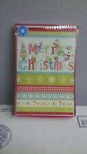 Traditional Christmas Cards Box Of 10 W/ Envelopes One Design New Old Stock G-1