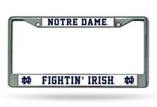 Notre Dame Fighting Irish Chrome Metal Car License Plate Frame - Auto Tag Holder