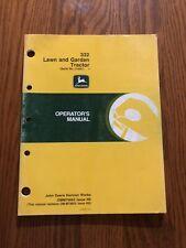 John Deere 332 Tractor Omm79663 Operators Manual Book