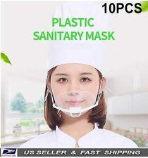 X10pcs Transparent Plastic Anti-Fog Mouth Shield , Restaurants, Catering, Hotel
