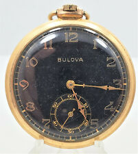 17J 45mm Pocket Watch W23 Running Vintage Bulova 17Ae Gold Plated