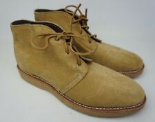 Wolverine Palmer Plain Toe Chukka Camel Suede Boots W40134 Size 11 D