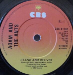 """ADAM & THE ANTS - Stand & Deliver ~ 7"""" Single"""