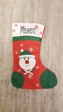 Personalised christmas stocking embroidered snowman stocking