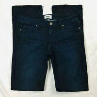 Paige Womens Manhattan Jeans Size 31 Dark Blue Mid Rise Bootcut Stretch