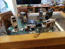 8mm film movie cameras - Lot of 6 -  Kodak, Bell & Howell, Revere, Gaf, Keystone