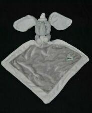 Peluche doudou éléphant Dumbo plat mouchoir DISNEY NICOTOY gris beige 14 cm NEUF