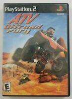ATV OFF ROAD FURY PS2 Game 2001 Sony Playstation 2 No Manual
