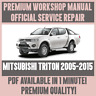 WORKSHOP MANUAL SERVICE & REPAIR GUIDE for MITSUBISHI TRITON 2005-2015