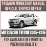 WORKSHOP MANUAL SERVICE & REPAIR GUIDE for MITSUBISHI TRITON 2005-2015
