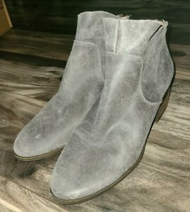 Lucky Brand Womens size 8 M Lahela suede leather Boot gray ankle bootie