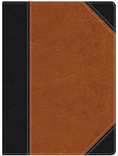 NEW HCSB Study Bible, Black/Brown LeatherTouch
