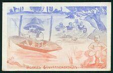 art NEMO Satirical Political caricature France Loubet Kaiser fish 1910 postcard